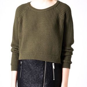 TopShop Fishermen Cropped Sweater